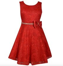 Bonnie Jean Allover Lace Sleeveless Dress Size 7