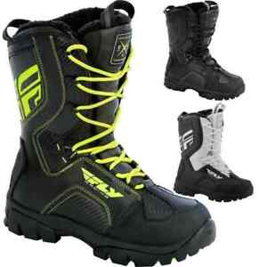 New Mens FLY Racing Marker Black, BLK/White, Hi-Viz Snowmobile Winter Snow Boots