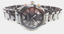 New Armani Black Ceramica Mens 41mm Chronograph AR1401 Date,30m WR, Mid Size