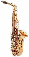 B-WARE Alt Saxophon Sax Saxofon Es Stimmung Koffer Mundstück Blättchen lackiert