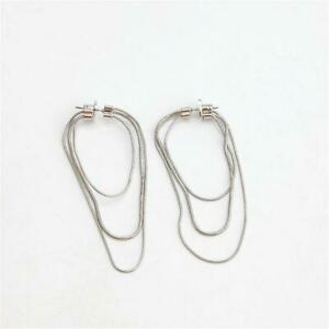Kate Spade New York Know the Ropes Large Snake Chain Hoop Earrings