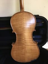 Old refurbished violin + quality wooden bow + used professional case
