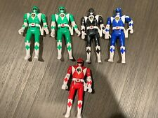 Mighty Morphin Power Rangers Auto Morph Fliphead Lot Of 5 1993 Bandai