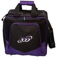 Columbia White Dot 1 Ball Tote Bowling Bag Purple