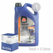 Engine Oil and Filter Service Kit 5 LITRES Millers TRIDENT 5W-40 synth 5L