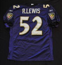 RAY LEWIS Baltimore Ravens NFL On-Field Jersey Reebok Purple Sewn XL 48