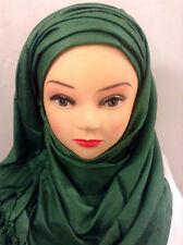 Plain Pashmina Châle Vert Forêt couleur, femmes foulard pack de 10 Wholesale