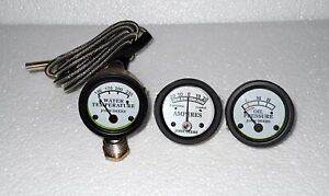 John Deere Tractor Oil Pressure Ammeter Temperature Gauge Set replacement A,B,H