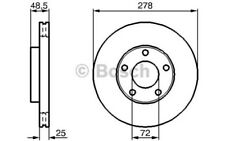1x BOSCH Disco de freno delantero Ventilado 278mm Para MAZDA 3 5 0 986 479 C68