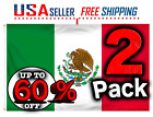 2X MEXICO 3X5 FT 2 PACK FLAG MADE IN US PREMIUM QUALITY TEXAS FAST SHIPPING