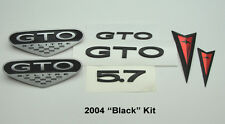 2004 Pontiac GTO Exterior Emblem Badge Kit Front Bumper Rear Emblems BLACK