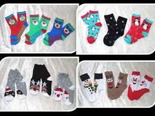 3er Set Socken Strümpfe Weihnachten Christmas Weihnachtsmann 23-26 27-30 31-36
