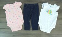 NEW Carter's Little Girl's 3-Piece Layette Set, Fish Size  6 Months