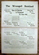 Orig 1916 newspaper WRANGELL Oldest contin published ALASKA TERRITORY newspaper