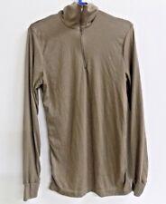 Peckham LWCWUS Lightweight Wicking Cold Weather Top Shirt Tan Base Layer Large