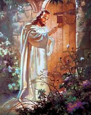 "The Lord Jesus Christ Knocking on the Door Art Print 8""x 10"" Christian Photo 7"