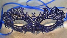 Blue Masquerade Mask Diamante Venetian Style Weddings New Year 2018 Masked Balls