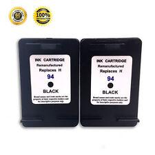 2 Pack Compatible With HP 94 Black Ink Cartridge Deskjet 5740 5745 5748 6830