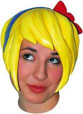 Yellow Pixie Latex Anime Wig Manga Cosplay Fancy Dress Halloween