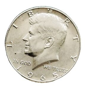 USA 1965 Kennedy Silver HALF Dollar GVF /GEF Coin