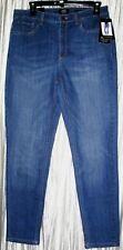 """New *JONES OF NY*Lexington Ankle,Cotton/Spandex,""""Secret Slimming"""" Blue Jeans,10R"""