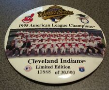 """Cleveland Indians 1995 American League Champions World Series Ltd Ed 6"""" Pin Back"""