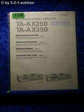 Sony Bedienungsanleitung TA AX250 / AX350 Stereo Amplifier  (#1108)