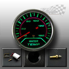 """Gauge water temp green LED smoked dial face interior dash pod fitting 2"""" 52mm"""