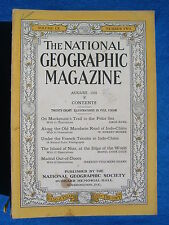 National Geographic Magazine August 1931 Vintage Ads Car Truck Advertising