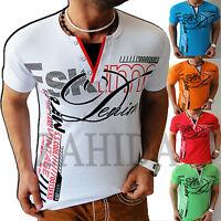Zahida Hommes T-shirt t-shirts haut chemise vintage Club Polo Shirt HOMMES NEUF