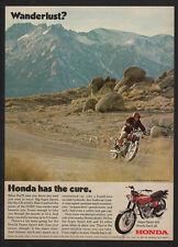 1970 HONDA Super Sport CB-450 K3 Motorcycle - WANDERLUST - Dirt Bike VINTAGE AD