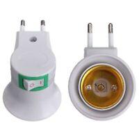 1X(Adaptateur Convertisseur de Ampoule Porte-lampe E27 LED Male prise vers UE fu