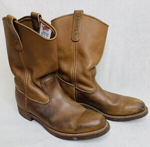 RED WING Pecos Corksole Boot Men 10 B Model 1178 Brown Made in USA