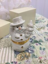 """Lenox Collectible """"The Snowman'S Surprise Box"""" excellent store display (B)"""