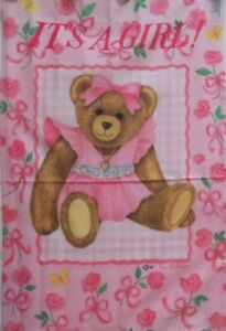 "It's a Girl Standard Art Flag by Toland #0878 24""x36"" Baby"