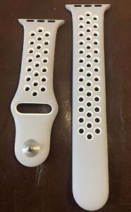 Original Apple Watch Series 5 4 3 2 1 Platinum/ Gray Black Nike + Band 38mm M/L