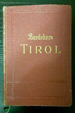 Baedeker TIROL Handbuch für Reisende 1938