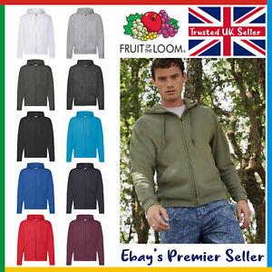 Mens Plain Zip Hoodie ? Fruit of the Loom Classic Hoody ? CHEAPEST Price on Ebay