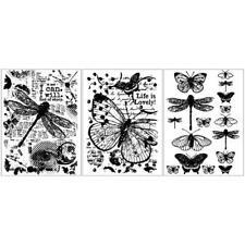 Libelle Schmetterling Silikon Clear Stamp Seal DIY Sammelalbum Präge Album