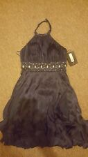BRAND NEW JS Boutique Halter Neck Sarin Navy Dress Size 10 with Free P&P