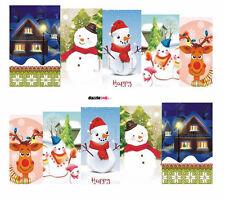 Nail Art Sticker Water Transfer Stickers Xmas Snowman Christmas (DS161)