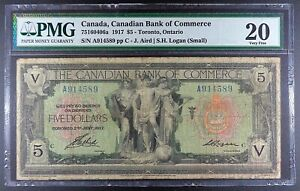 1917 Canada - Canadian Bank of Commerce $5, P-S965, PMG VF-20.