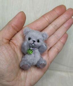 Teddy Jerry, ca 6,5 cm, Miniatur Bärchen, Künstlerteddy von Anna Milaya
