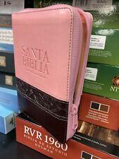 Biblia Letra Grande Reina Valera Pequeña Rosa Con Indice 10 Puntos
