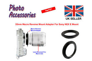 55mm Macro Reverse Adapter Ring For Sony NEX E Mount Digital Camera Body