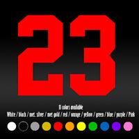 """5"""" Basketball Number 23 Diecut Laptop Car Window Vinyl Decal sticker"""