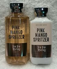2pc Bath & Body Works PINK MANGO SPRITZER Shower Gel & Body Lotion FREE SHIP New