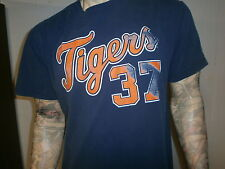 KENNY ROGERS DETROIT TIGERS 37 JERSEY T SHIRT World Series 2006 Blue LARGE