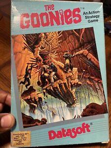 The Goonies 1985 Datasoft Computer Game Commodore 64 Atari48k Rare 1st Issue Box