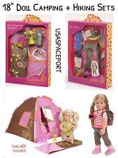 "18"" Doll CAMPING+HIKING SET Tent+Sleeping Bag WHAT A TREK Backpack American Girl"